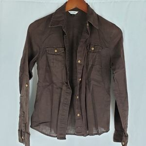 Old Navy Brown Button Down S